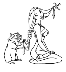 printable pocahontas coloring pages coloring me