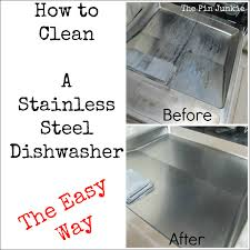 how to clean a stainless steel dishwasher