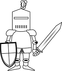 ritter knight black white line art coloring book colouring october