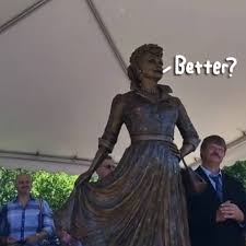 statue with lucille s hometown replaces scary statue with a new