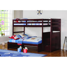 Donco Bunk Bed Donco Modular Loft With Stairs In Cappuccino