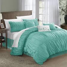 Ruffle Bedding Set Bedroom Cool Blue 7 Comforter Set Ruffled
