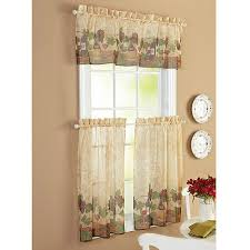 Kitchen Curtains Valance by Wine Curtains For Kitchen Better Homes And Gardens Belle Wine