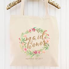 bridesmaid bag millie bridal party tote bag custom bridesmaid tote shine