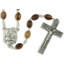 italian rosary holy family italian olive wood rosary