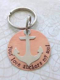 Items Similar To Love Anchors - your love anchors my soul copper key ring by silverblissshop
