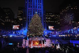 christmas season rockefeller center christmas tree view new york