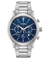 mens watches with bracelet images Citizen men 39 s chronograph quartz stainless steel bracelet watch tif