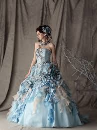 blue wedding dresses colorful wedding dresses
