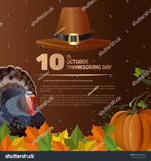 thanksgiving day design canada 10th october stock vector 487638676