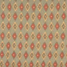 Upholstery Fabric Southwestern Pattern Southwest Check Chenille Upholstery Fabric Green Beige And Red