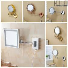 extendable bo bronze bathroom mirrors wall mount magnifying swivel
