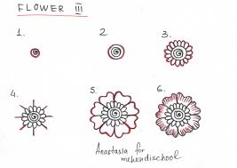 how to draw a beautiful and smooth mehndi flower small and easy