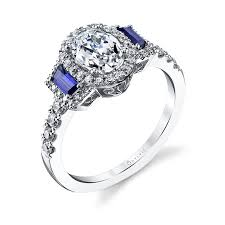 sapphire accent engagement rings engagement ring with blue sapphire accents