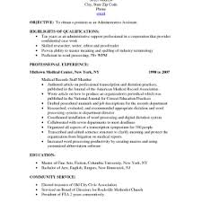 Definition For Resume Cover Letter Administrative Objective For Resume Administrative