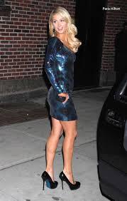 What Happened To Paris Hilton - paris hilton dons skintight leather trousers la kings game black