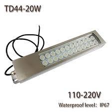 110v led work light hntd led panel light 20w ac 110v 220v led metal work light td44 cnc