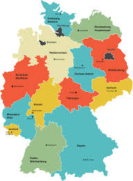 map of regions of germany germany regions map geography detailed map of germany