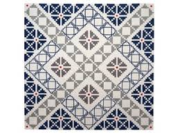 Square Wool Rug Handmade Square Wool Rug With Geometric Shapes Puzzled Dare To