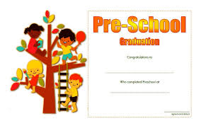 preschool graduation certificate preschool graduation certificate template 4 ss the best template