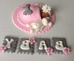 fondant baby shower cake toppers cake decor pedia