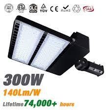 led parking lot lights vs metal halide type iii 300w led shoebox pole light fixture 140lm w etl cetl dlc