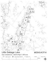 Cumberland Lake Map Lakes Of Maine Lake Overview Little Sebago Lake Gray