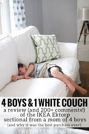Best Couches For Families by The Truth About The White Ikea Ektorp Sectional The Tiny Twig