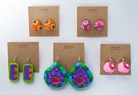 paper mache earrings paper mache earrings javiera donoso romo flickr