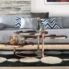 Cara Coffee Table Furniture Of America Cara Contemporary Motion Glass Metal