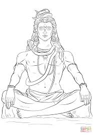 lord shiva coloring page free printable coloring pages