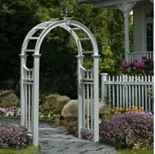 Trellis Arch Garden Arbor Arch Trellis Pergola Patio Yard Wedding Gate Vinyl