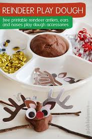 free printable reindeer activities no cook play dough recipe play dough antlers and free printable