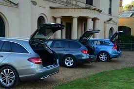 bmw 3 series touring boot capacity mercedes c class estate vs bmw 3 series and volvo v60 auto express