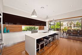 kitchen furniture brisbane black and white kitchen with timber splashback pvb quality