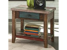 End Table With Shelves by Liberty Furniture Boho Loft One Drawer End Table With Shelf