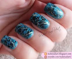 make nail art turquoise stone nail art design tutorial