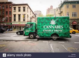 truck advertising cannabis energy drink chelsea