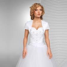 veste mariage nouvelle arrivée blanc de mariée veste de mariage satin boléro