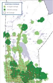 Manitoba Canada Map by Canadian Network Coverage U2013 New Entrants U0026 Selected Regional