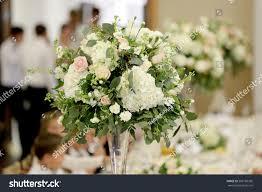 wedding table decorations on vase stock photo 505160365