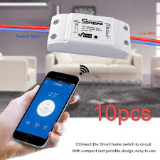 10x sonoff itead smart home wifi timing home wireless switch for