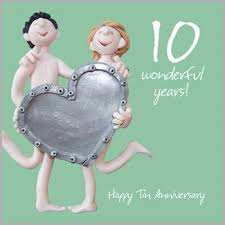 10th wedding anniversary 10th wedding anniversary card co uk kitchen home