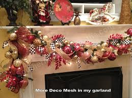 5 ways to add deco mesh to a christmas tree ribbon garland