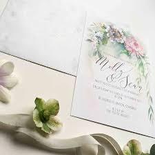 serenity personalised illustrated wedding invitation u2013 beautiful