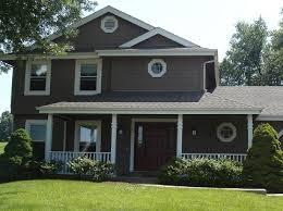 dark brown exterior house paint