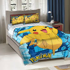 pokemon big pikachu twin full bedding comforter set walmart com