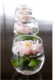 Wine Glass Flower Vase Simple Centerpieces Flower Floating In Small Vase One Day A