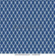 winter sweater fairisle design seamless knitting stock vector