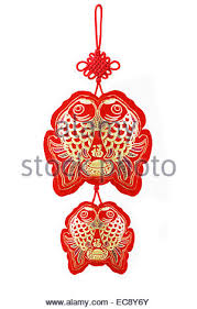 new year auspicious fish ornaments with festive wishes
